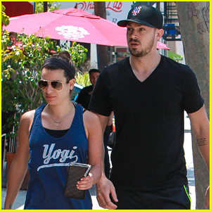 Lea Michele & Matthew Paetz Grab Lunch at Chipotle Over Memorial Day Weekend