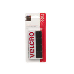 "VELCRO® Brand Sticky Back™ 7/8"" Black Square Fasteners (12-Pack)"