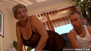 thumb Busty Granny Seduces Young Guy With Her Big Tits