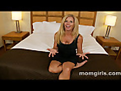 Blonde milf likes young cock