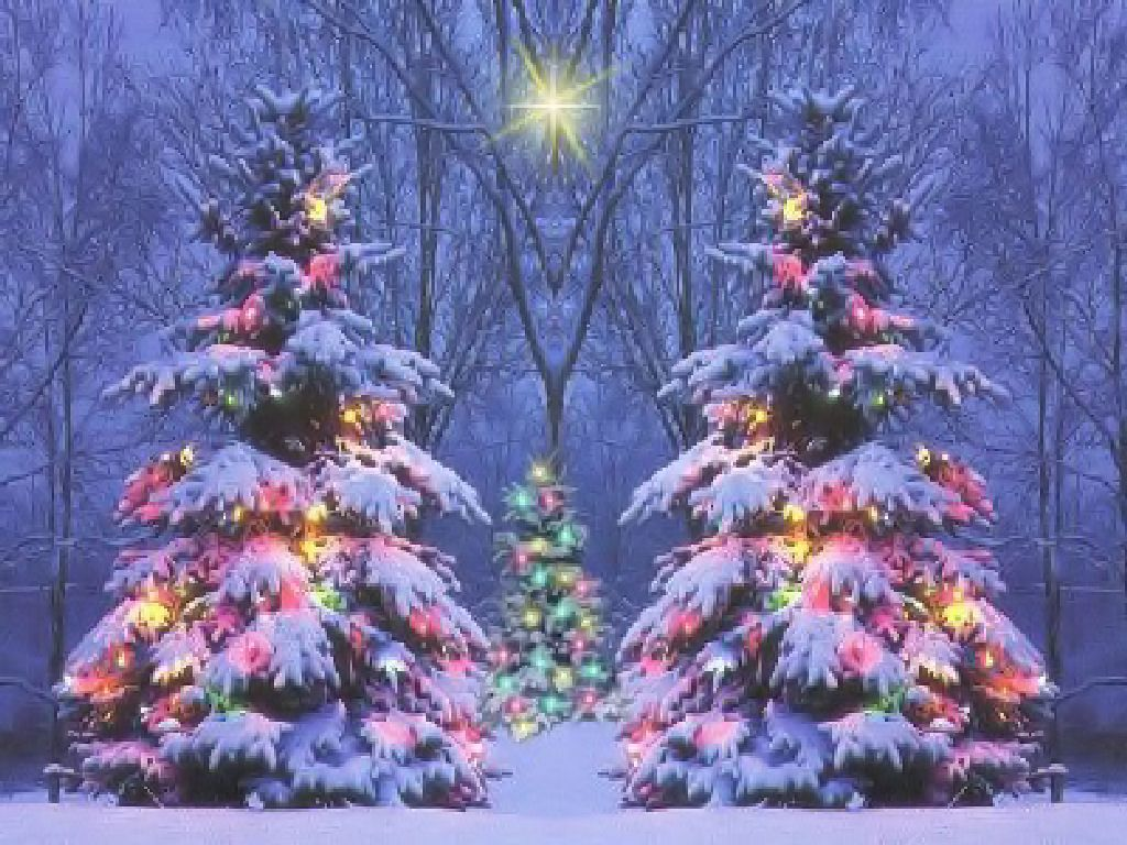 Christmas Winter Scenes Wallpaper