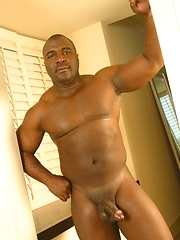 Big black biker presents own big dick