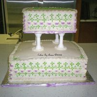 My Baby Shower Cake Why let someone else have all the fun? I decorated my own Baby Shower Cake! All over Buttercream. First attempt at Ribbon insertion and...
