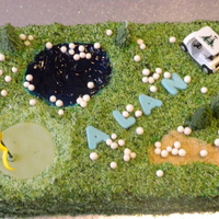Alan's 60Th Golf Cake Alan turned 60 and his daughter asked for a golf cake! My hubby wanted to wind him up and gave me the idea of having all the golf balls in...