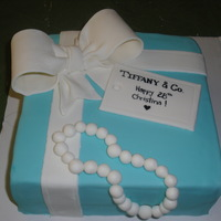 Tiffany & Co. Birthday This is the first cake I made using the Satin brand buttercream flavored fondant from Sugar Art! It is so smooth, pliable and yummy! WAY...