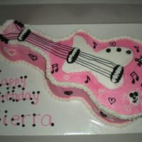 Pink Guitar With Skulls I made this cake for my neice. She loves music and for some reason, SKULLS. I used the standard Wilton guitar pan but then had to use a...