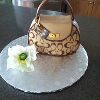 Coach Purse And Magnolia This is my 1st purse cake and my 1st magnolia
