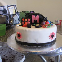 Make Over Cake 7 year old was having a make over mani/pedi sleep over party!
