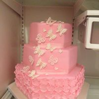 Butterfly 1St Birthday Cake Pink