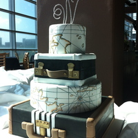 World Traveler Wedding Cake This was designed for a couple who loves to travel. Their wedding theme was very vintage so I went for vintage travel cases and vintage...