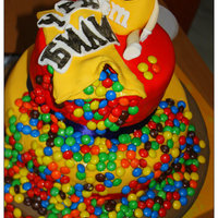 Mampm Cake Nothing Unfamiliar But Thats Was The Exact Wish Of The Birthday Girl M&M cake - nothing unfamiliar but that's was the exact wish of the birthday girl :)