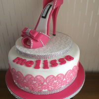 Fondant Shoe Cake My daughters 40th birthday cake