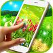 Green Spring Live Wallpaper HQ by 3D HD Moving Live Wallpapers Magic Touch Clocks