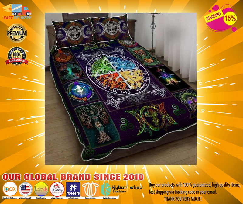 Wiccan witch pagan quilt bedding set4