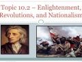 10.2.a - Review: Scientific Rev. and Enlightenment