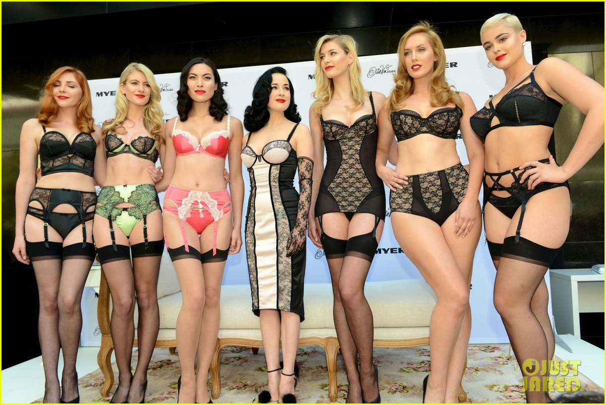 dita von teese debuts new lingerie collection in melbourne 022987525