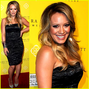 Hilary Duff: Kendra Scott Grand Opening with Mike Comrie