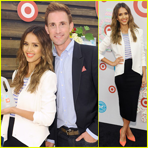Jessica Alba Celebrates Honest Company at Target Launch with Co-Founder Christopher Gavigan!