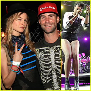 Adam Levine & Behati Prinsloo Enjoy the Music at Coachella