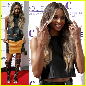 Ciara Shows Off New Engagement Ring at Marquee Dayclub Season Opening