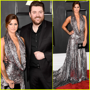 Newly Engaged Cassadee Pope Steps Out With Chris Young at Grammys 2017