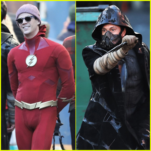 Grant Gustin & Chris Klein Film as The Flash & Cicada in Vancouver!