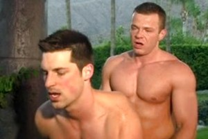 Two Hot Dudes Get Bored Outside And Fuck
